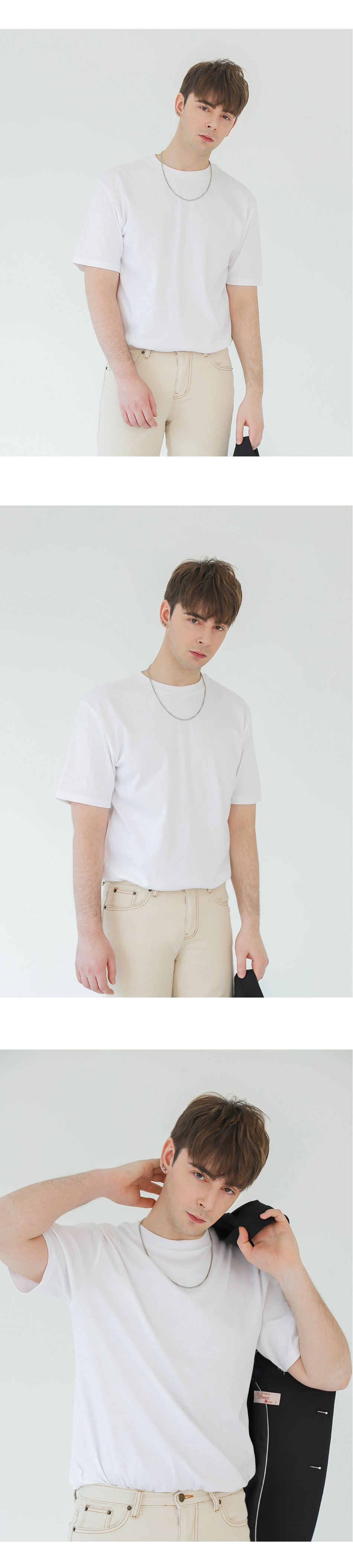 [1+1] PAPER STANDARD TEE (WHITE)